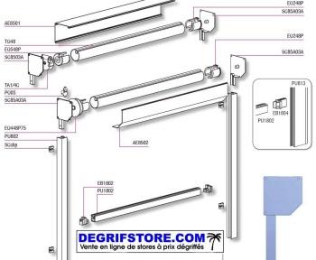 store vertical guide par coulisses avec coffre. Black Bedroom Furniture Sets. Home Design Ideas