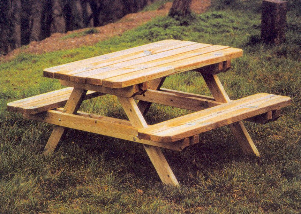 table rabattable cuisine paris table de picnic en bois