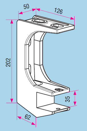 supports de pose pour store. Black Bedroom Furniture Sets. Home Design Ideas
