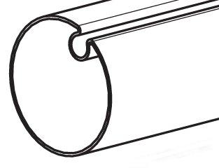 Tube Rond A Goutte De 70mm